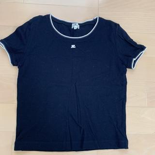 クレージュ(Courreges)のクレージュ 紺ポロTシャツ(Tシャツ(半袖/袖なし))