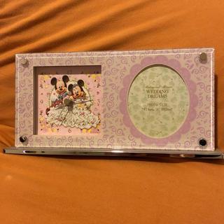ディズニー(Disney)のディズニー置き時計&フォトフレーム ウエディング(置時計)