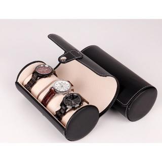3本用 腕時計 収納ケース ボックス コレクション 携帯 黒(その他)