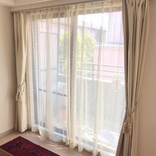 ムジルシリョウヒン(MUJI (無印良品))のカーテン セット オフホワイト 100×110 100×135 1組セット(カーテン)
