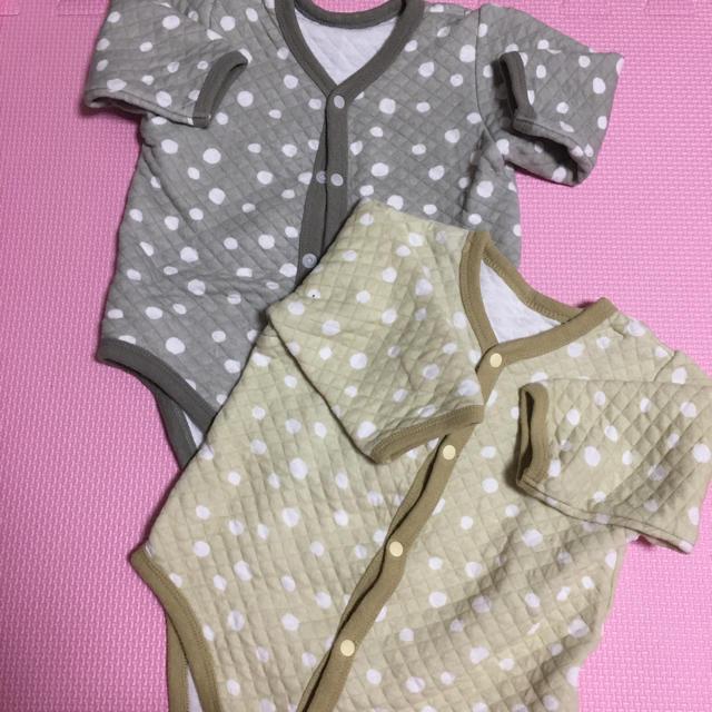 西松屋(ニシマツヤ)の肌着 2枚セット キッズ/ベビー/マタニティのベビー服(~85cm)(肌着/下着)の商品写真
