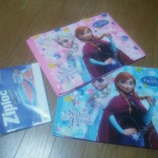 ディズニー(Disney)のアナと雪の女王 トートバッグ2枚★ジップロック5枚(トートバッグ)