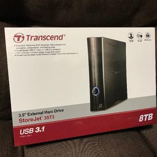 トランセンド(Transcend)の新品 Transcend USB3.0 外付HDD 8TB TS8TSJ35T3(PC周辺機器)