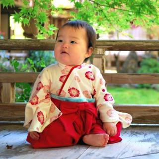 袴ロンパース✯80cm✯初節句✯ひな祭り✯お食い初め(和服/着物)