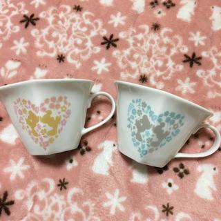 ディズニー(Disney)のハートが浮かぶ☆ ミッキー&ミニー フラワー ペアマグカップ(キャラクターグッズ)