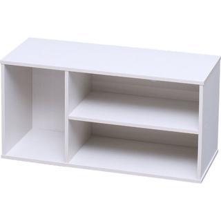 アイリスオーヤマ(アイリスオーヤマ)のモジュールボックス アイリスオーヤマ ホワイト AVボード 白(リビング収納)
