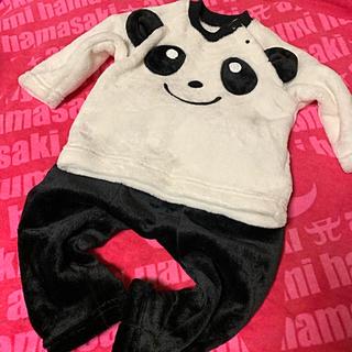 シマムラ(しまむら)の新品同様 パンダ パジャマ フワフワ 80cm(パジャマ)