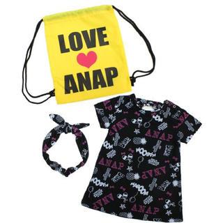 アナップキッズ(ANAP Kids)の新品 ANAPKIDS☆110 ワンピース ナップサック セット アナップキッズ(ワンピース)