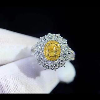新作特別価格イエローダイヤモンドリング(リング(指輪))