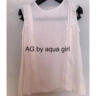 エージーバイアクアガール(AG by aquagirl)のフリルノースリーブシャツ.(シャツ/ブラウス(半袖/袖なし))