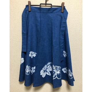 ハワイアン 巻きスカート(ひざ丈スカート)