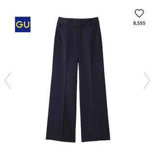 ジーユー(GU)のGU ワイドパンツ ガウチョ スーツ UNIQLO ユニクロ 卒業式 入学式(カジュアルパンツ)