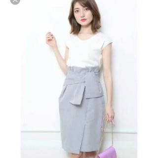 ジャスグリッティー(JUSGLITTY)のジャスグリッティー 巻き風リボンタイトスカート 新品未使用タグ付き(ひざ丈スカート)
