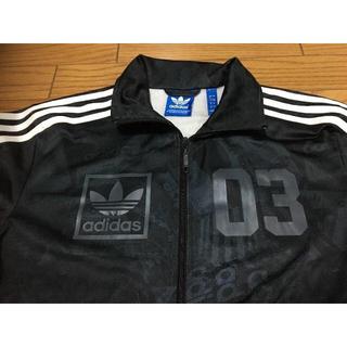 adidas - 中古アディダス黒ジャージ総柄L03
