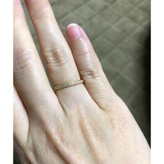 アーカー(AHKAH)のオレフィーチェ orefice k18 イエローゴールド ハーフエタニティリング(リング(指輪))