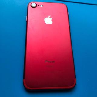 アイフォーン(iPhone)の美品 iphone7 レッド simロック解除済み(スマートフォン本体)