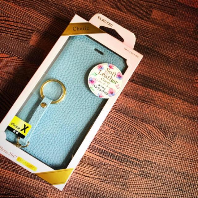 iphone7 ケース iphone 6 | ELECOM - ELECOM iPhone X用ソフトレザーカバー(手帳型)の通販 by 33TROOPER|エレコムならラクマ