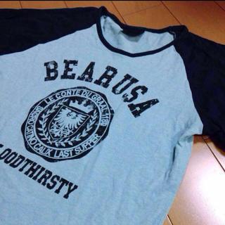 ベアー(Bear USA)のBearUSAメイドラグランコットンカットソー(Tシャツ/カットソー(七分/長袖))