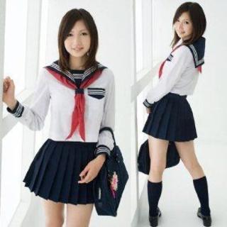 ★定番 セーラー服 ★ コスプレ 女子高生 制服  ◆ 送料無料 ◆(衣装)