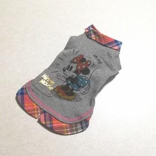 ディズニー(Disney)の♥️ペットパラダイス♥️ディズニーミニー襟付きカットソーワンピース(犬)
