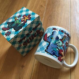 ディズニー(Disney)のディズニースティッチ柄☆マグカップ(グラス/カップ)