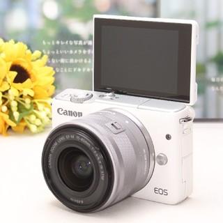 Canon - ❤Wi-Fi標準搭載&自撮り❤清楚なホワイトカラー♪Canon EOS M10