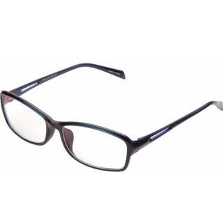エレコム(ELECOM)のELECOM ブルーライトカット眼鏡 遠近両用老眼鏡 +1.0 ネイビー (サングラス/メガネ)