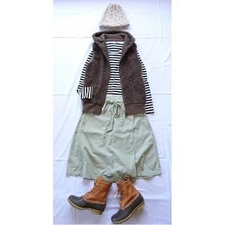 マーガレットハウエル(MARGARET HOWELL)のMHL マーガレットハウエル ラップスカート 巻きスカート(ひざ丈スカート)