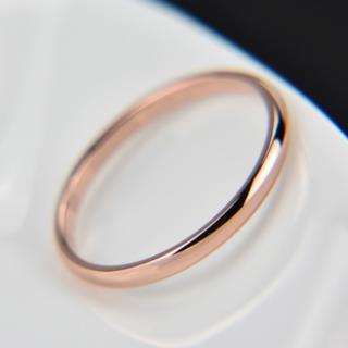 シンプルなファッションリング2mm(ピンクゴールド)(リング(指輪))