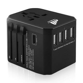 旅行用電源アダプタプラグ - ユニバーサルウォールUSB充電器、国際旅行用(変圧器/アダプター)