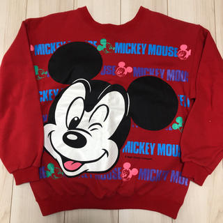 ディズニー(Disney)の90s ヴィンテージ DISNEY ディズニー ミッキー スウェット トレーナー(スウェット)