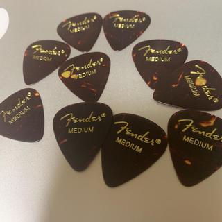 fenderギターピック  ティアドロップmedium×10枚(鼈甲柄(エレキギター)