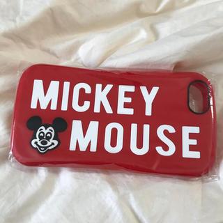 ディズニー(Disney)の新品❤︎ iPhone7/8 Disney ミッキー ロゴ 赤 シリコン カバー(iPhoneケース)