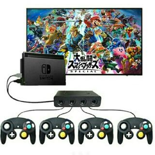 ニンテンドースイッチ(Nintendo Switch)のニンテンドー スイッチ PC ゲームキューブ コントローラ 接続タップ スマブラ(その他)