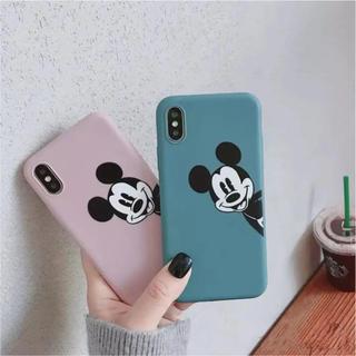 ディズニー(Disney)の新品❤︎ iPhone7/8 ディズニー ひょっこり ミッキー 青 カバー(iPhoneケース)