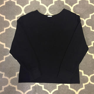 ジーユー(GU)のGU 黒ワッフルT(Tシャツ(長袖/七分))