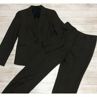 アオキ(AOKI)の【LES MUES】レディースパンツスーツ 3S チャコール AOKI(スーツ)