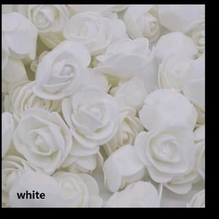 《未使用》値下げ❗️海外 バラ 立体デコレーション ホワイト 12個(ウェディングドレス)