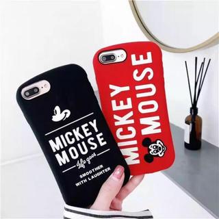 ディズニー(Disney)の新品❤︎ Disney iPhone7/8 ミッキー シリコン ロゴ 黒 カバー(iPhoneケース)