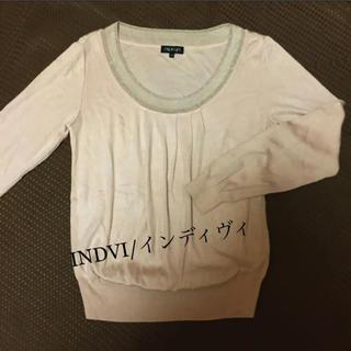 インディヴィ(INDIVI)の☆INDVI/インディヴィ☆ 春ニットカットソー(ニット/セーター)