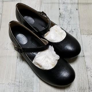 リゲッタ(Re:getA)のリゲッタ ワンベルトローヒールパンプス ブラック(ローファー/革靴)