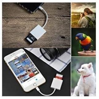 対応 高速な写真とビデオ転送 microメモリSDカードリーダー (ホワイト)(その他)