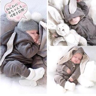 ベビーギャップ(babyGAP)のうさ耳ロンパース(ロンパース)