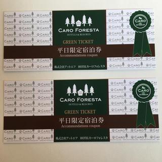 カーロフォレスタ 平日宿泊券 グリーンチケット 2枚(宿泊券)
