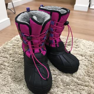 スノーブーツ ジュニア ボアブーツ 防寒ブーツ 22cm(ブーツ)