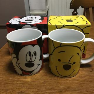 ディズニー(Disney)のマグカップ ミッキー、プーさん(グラス/カップ)