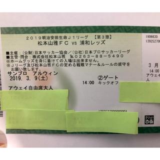 [ほ♡様専用]松本山雅 vs 浦和レッズ アウェイ自由席2枚(サッカー)