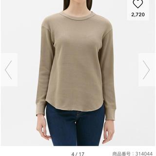 ジーユー(GU)のワッフルT(長袖)(Tシャツ(長袖/七分))