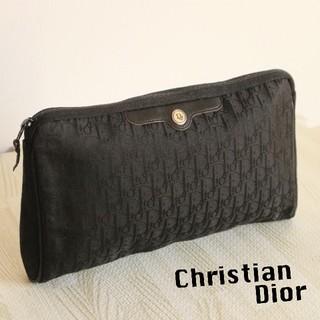 クリスチャンディオール(Christian Dior)の美品 正規品 Dior ヴィンテージ トロッター ロゴ クラッチ バッグ(クラッチバッグ)
