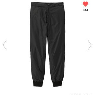ジーユー(GU)の新品未使用 GU×KIM JONES 中綿ジョガーパンツ 黒 ブラック XL(その他)
